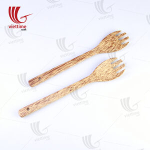 Handmade Coconut Salad Utensils Set Of 2