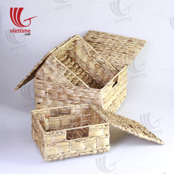 Traditional Water Hyacinth Basket With Lid