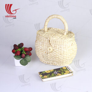 Water Hyacinth Clutch Box Bag With Lid