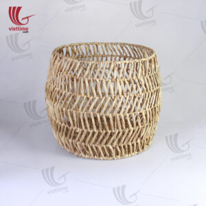 Water Hyacinth Storage Cubes Round Basket