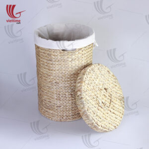 Water Hyacinth Wicker Laundry With Fabric Inside