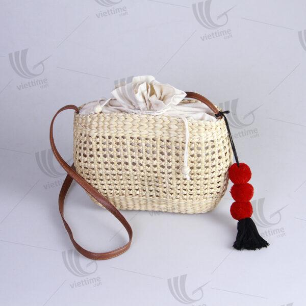 Princess Water Hyacinth Bags Wholesale With Tassel