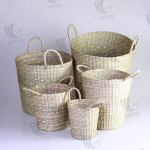 Many Sizes of Seagrass Storage Baskets