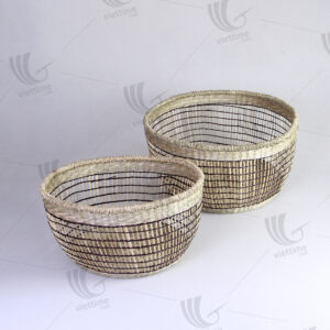 Seagrass Storage Baskets Wholesale Set Of 2