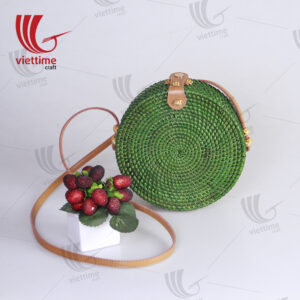 Collection Of Dipped Color Rattan Crossbody Bag