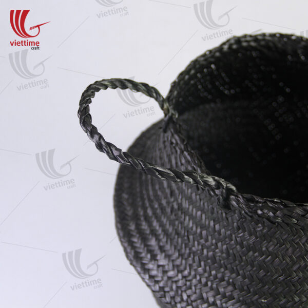 Full Black Seagrass Belly Basket Wholesale