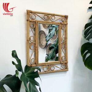 Rattan Mirror Decor