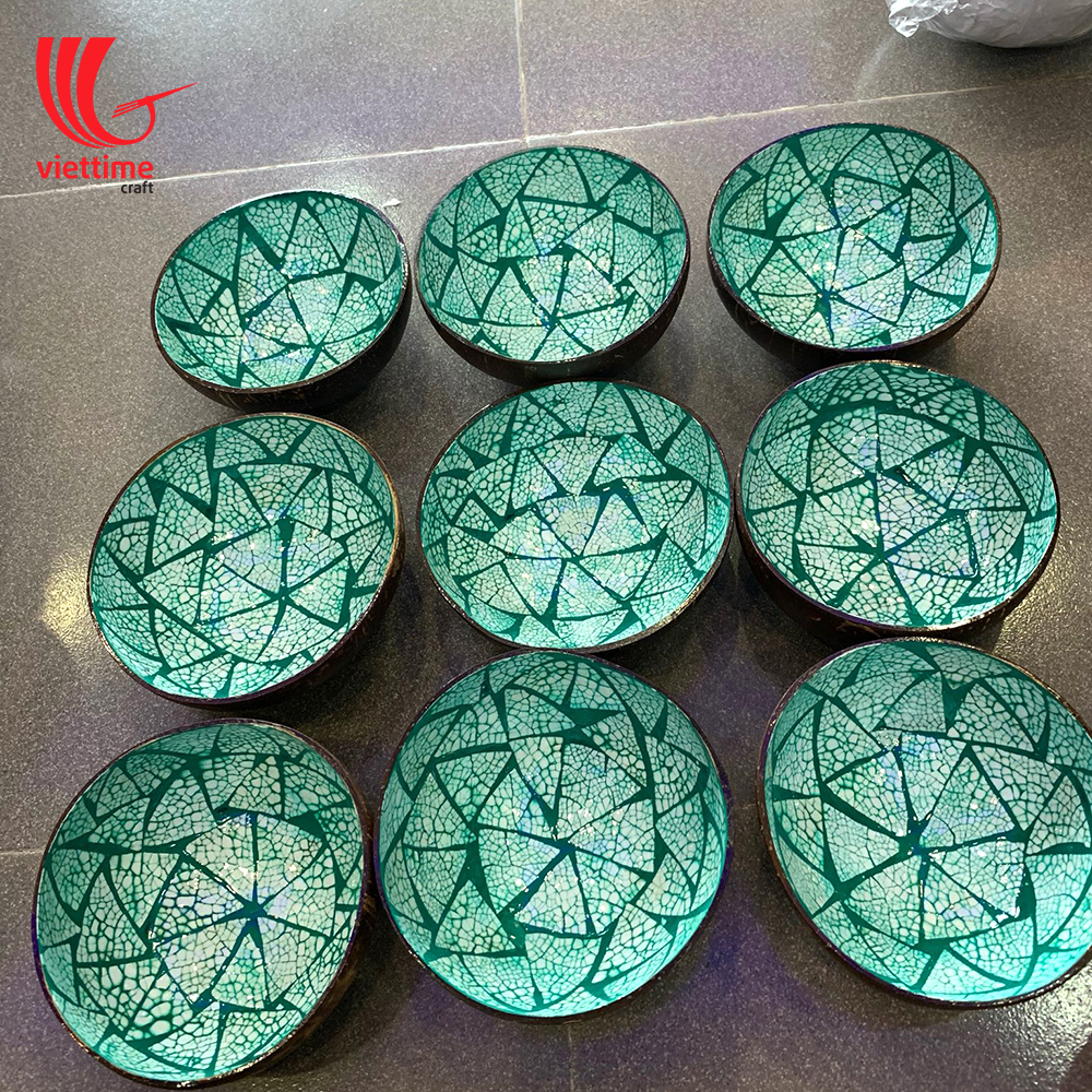 EggShell Inlaid Green Coconut Bowl Wholesale | Viettime Craft