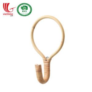 Rattan Coat Wall Hanger Hook