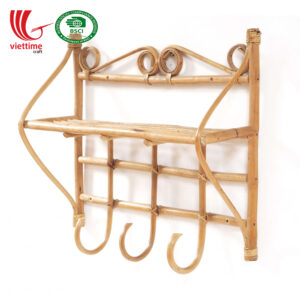 Rattan Coat Wall Hanger Rack