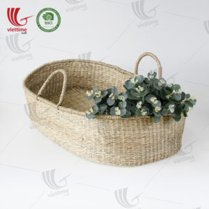 Seagrass Baby Changing Basket