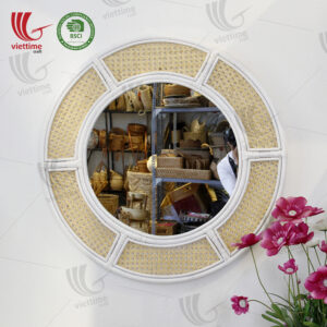 Rattan Mirror Decor