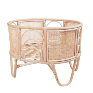 Rattan Doll Crib sku M00347