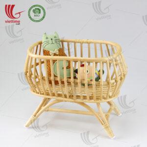 Rattan Doll Crib