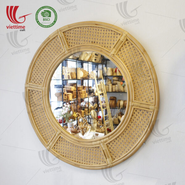 Woven Rattan Mirror Decor Wall Wholesale