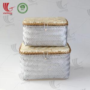 Handmade Woven Bamboo Storage Box Set 2