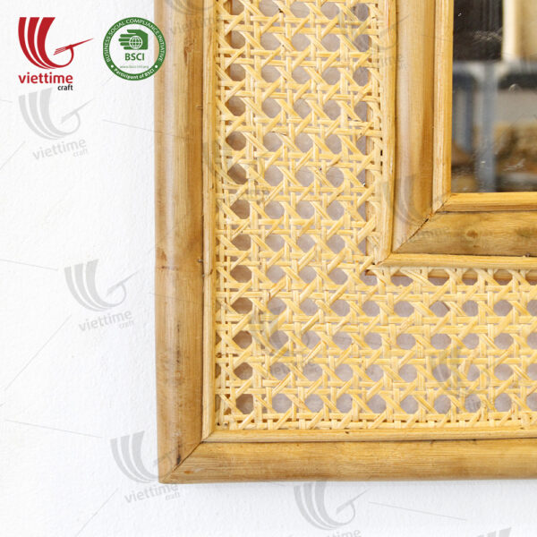 Rectangle Shaped Rattan Mirror Wholesale