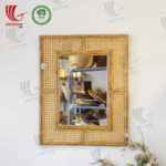 Rectangle Shaped Rattan Mirror Wholesale