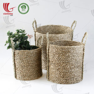 Handwoven Seagrass Storage Basket SET 3 Wholesale