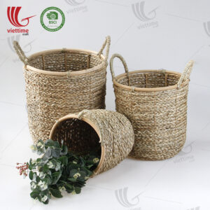 NEW Seagrass Storage Basket SET 3 Wholesale