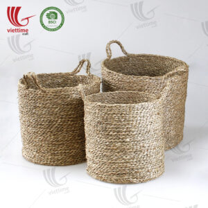 Seagrass Storage Basket SET 3 Wholesale