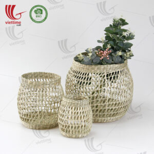 Woven Open Seagrass Storage Basket SET 3