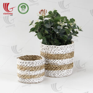 Seagrass Storage Basket Plant Holder