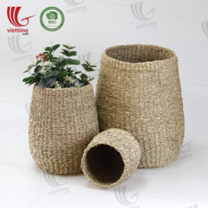 Nice Decor Seagrass Storage Basket SET 3