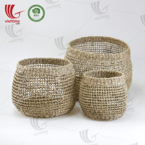 Useful Seagrass Storage Basket SET 3