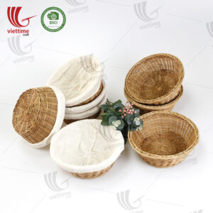 Rattan Bread Basket With Liner Wholesale