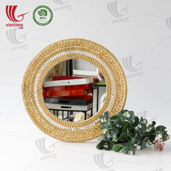 Best Design Round Rattan Mirror Wholesale