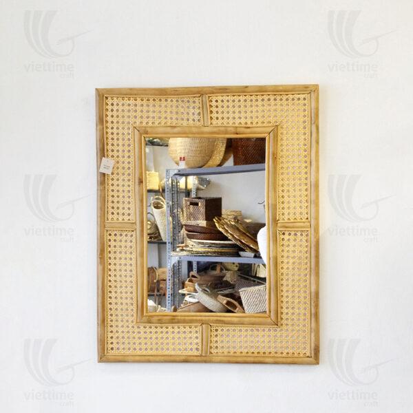 Rattan Mirror sku M00342