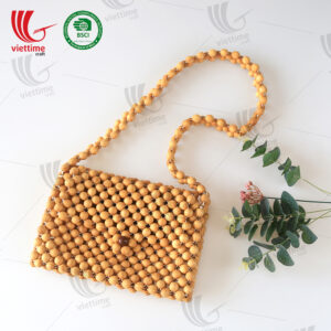 Natural Wooden Bead Bag Wholesale
