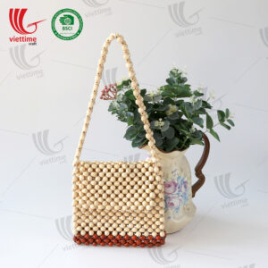 New Design Wooden Bead Bag Wholesale