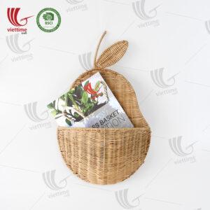 Pear Rattan Hanging Basket Wholesale