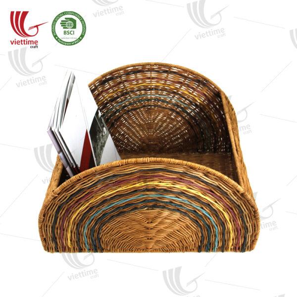 Rainbow Rattan Laundry Basket With Handle