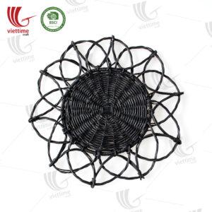 New Black Rattan Placemat Wholesale