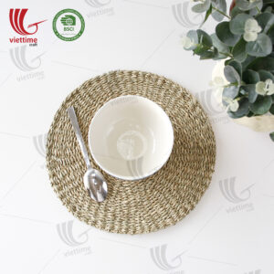 Round Natural Seagrass Placemat