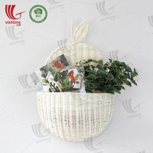 White Rattan Hanging Basket Wholesale