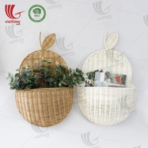 SET Color Rattan Hanging Basket