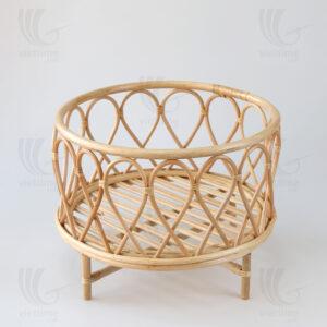 Rattan Doll Cradle- M00656