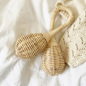 Rattan Baby Rattle Toy sku M00311