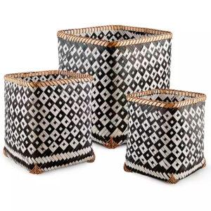Bamboo Storage Basket sku TD00263