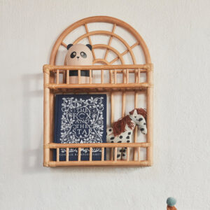 Rattan wall shelf sku M00273