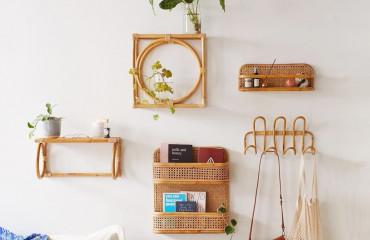 Interior design trend 20th century: wicker wall decor is the way forward