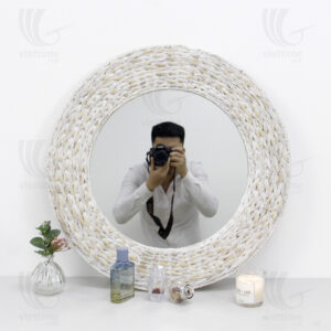 Water Hyacinth Mirror sku B00255